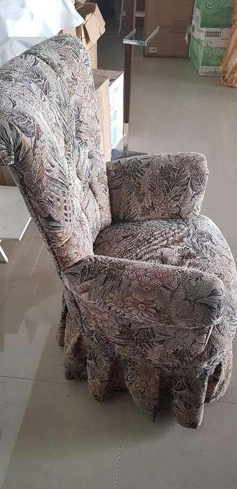 Preciosa <strong>silla</strong> Fina Madera Tapiz Jakard