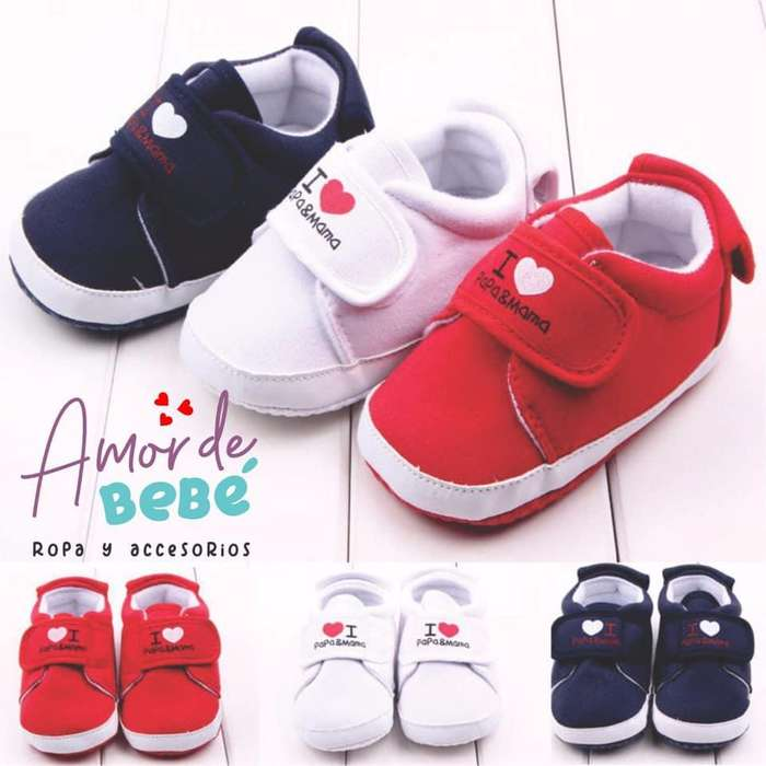 a2691fee1a7 Zapatos Para Bebé Niño Y Niña I Love Papá Mamá