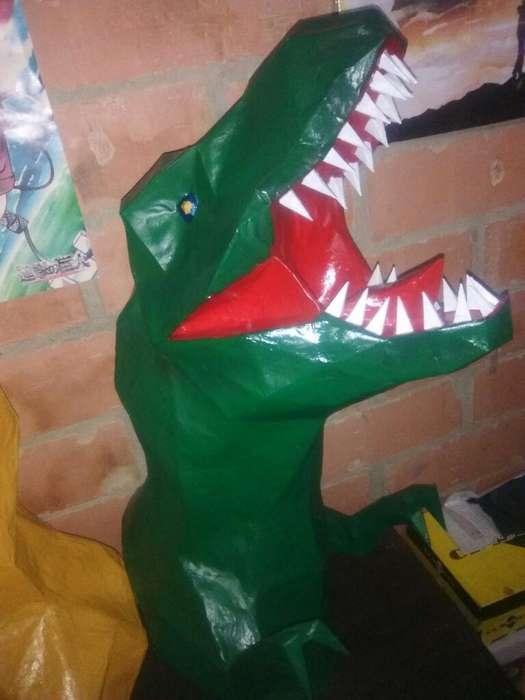 Par de T-rex en Arte Papercraft