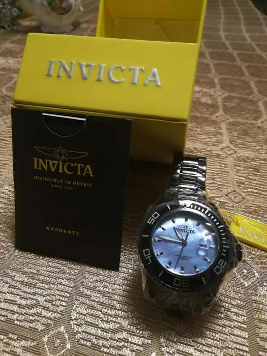 Reloj Invicta Pro Diver nuevo, negro, acero. Relojes hombre Fossil Guess