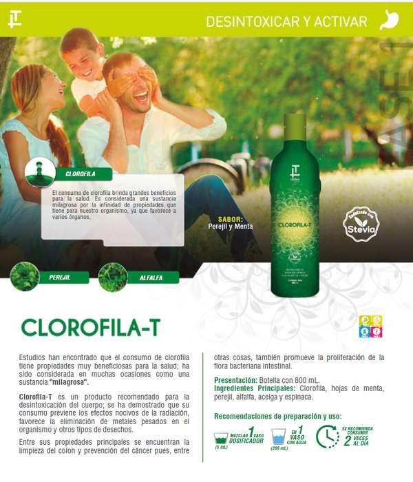 VENDO CLOROFILA T TEOMA