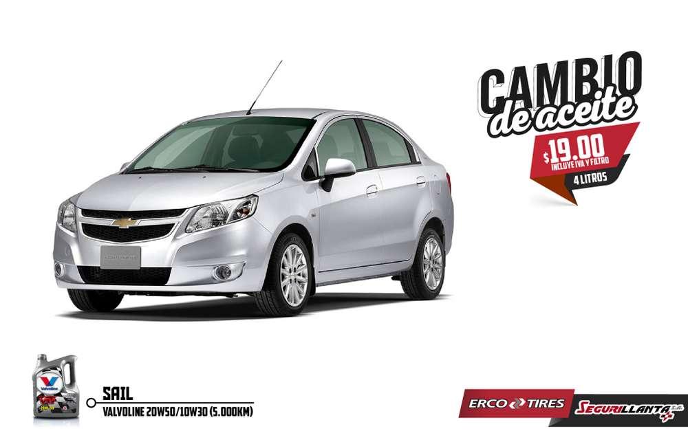 Cambio de Aceite - Chevrolet Sail - Valvoline - Incluye IVA y Filtro.