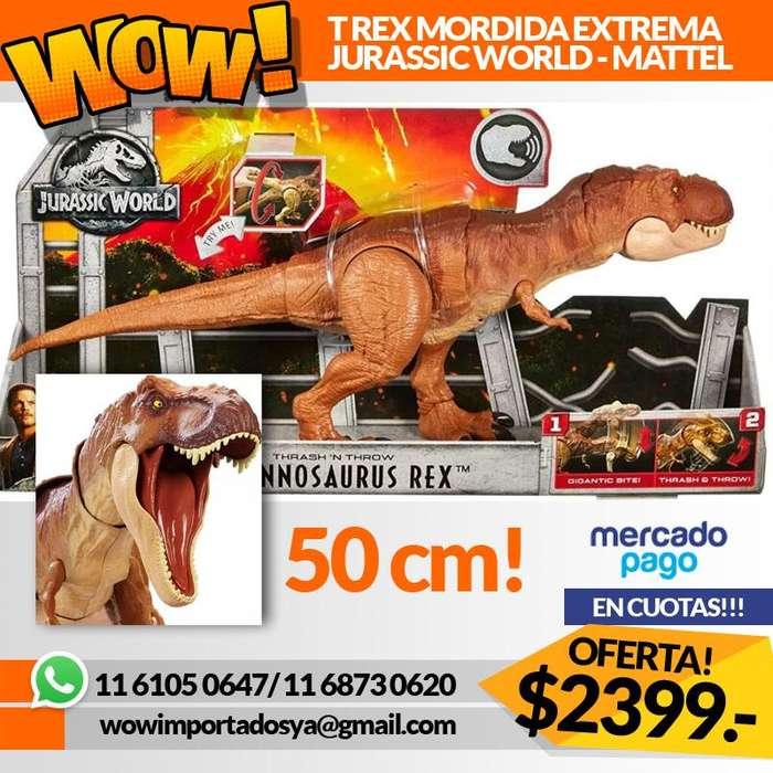 NUEVO EN CAJA! Dinosaurio Jurassic World T Rex Mordida Extrema Mattel Original Oferta!