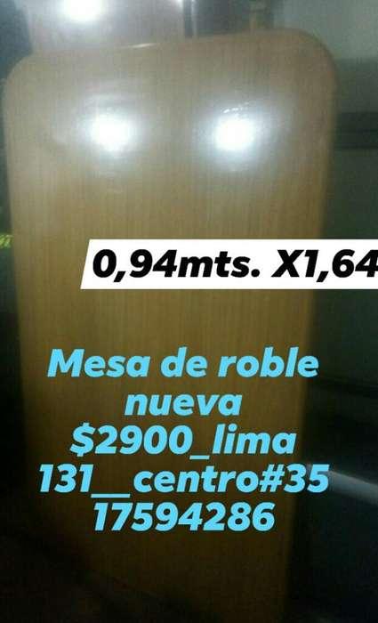 Mesa de Roble Nueva,lima 131_centro