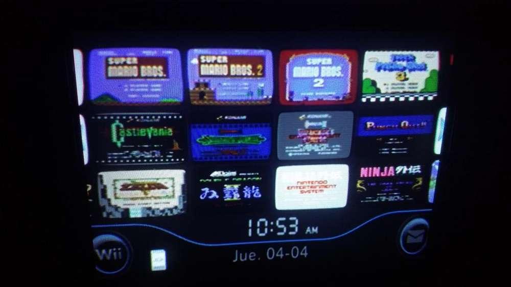 Wii retrocompatible con juegos retro nes instalados nintendo leer