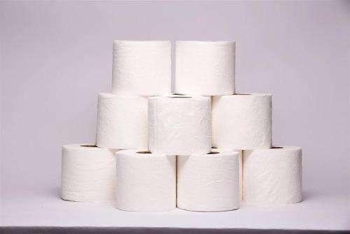 Bolsón de 48 rollos de papel hig. de 50 mts c/u simple hoja extra blanco de calidad