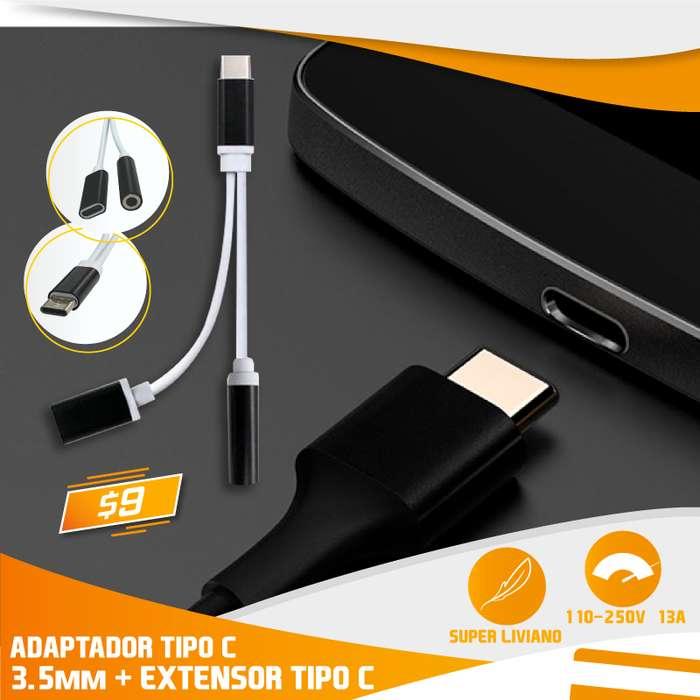 ADAPTADOR TIPO C A 3.5mm HEMBRA TIPO C