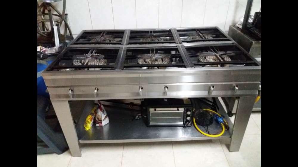Cocina Estufa Industrial 6 Puestos