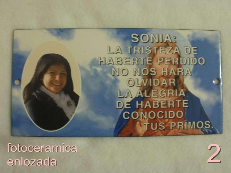 Placa para Cementerios con Foto