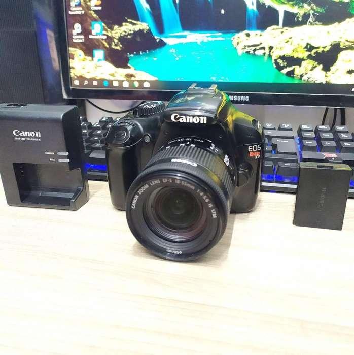Vendo Camara Canon T3 Con lente Canon 18 55mm