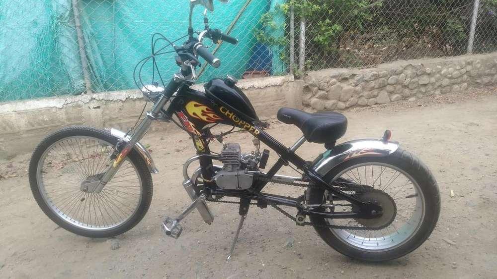 Bicicleta con Motor Chopper