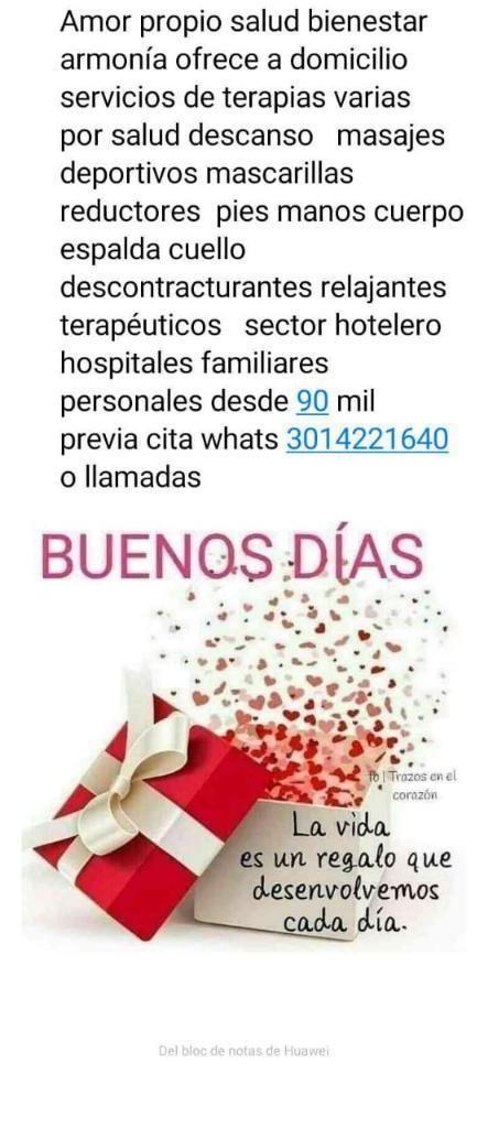 Salud Terapias Domicilios 3014221640