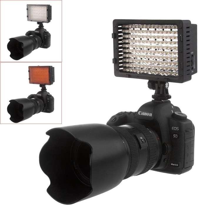 Luz Led 160 Videlo Light 3 filtros manejo con Dial Sin pila ni cargador