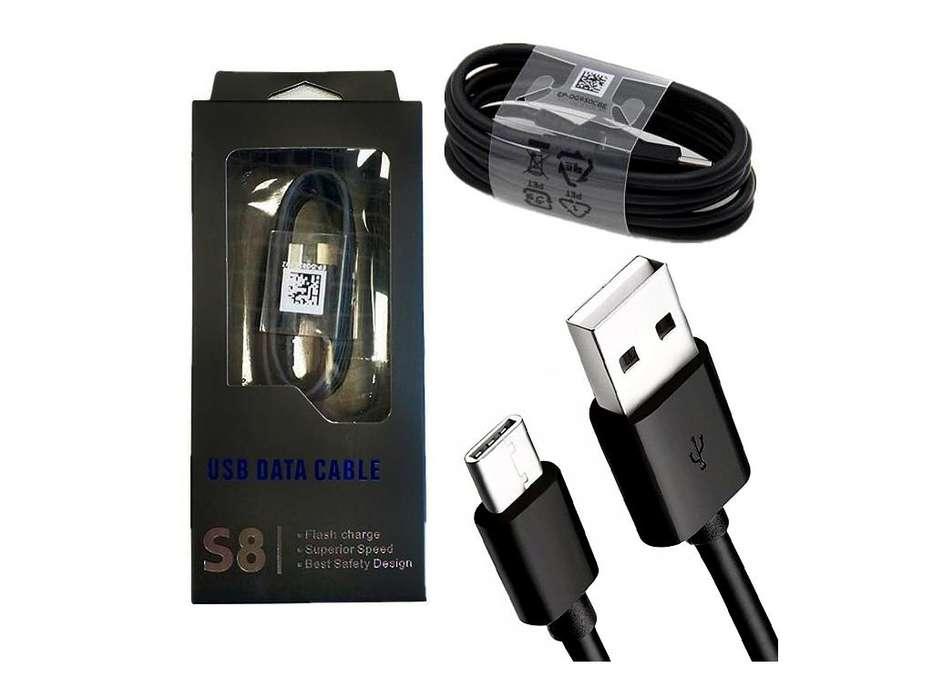 Cable De Datos Usb Original Samsung V8 Y Tipo C Original