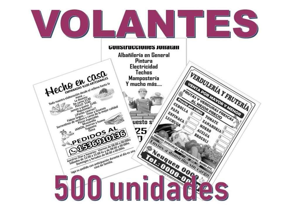 Volantes Folletos Publicidad Blanco Y Negro 10x15 250