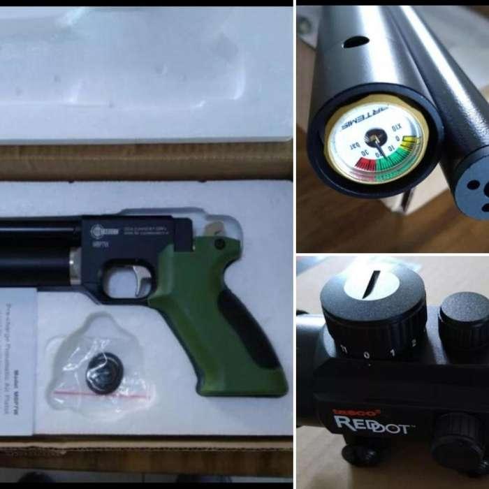 Pistola Pcp 5.5 con Mira Punto Rojo
