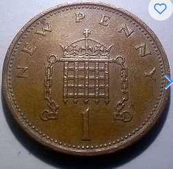 Gran Bretaña 1 New Penny 1971