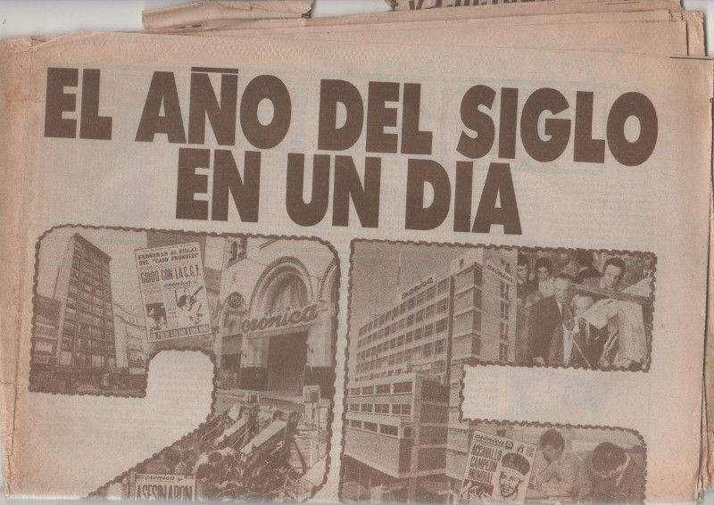 Diario Crónica 25 Aniversario 19631988 Ideal Para Coleccion