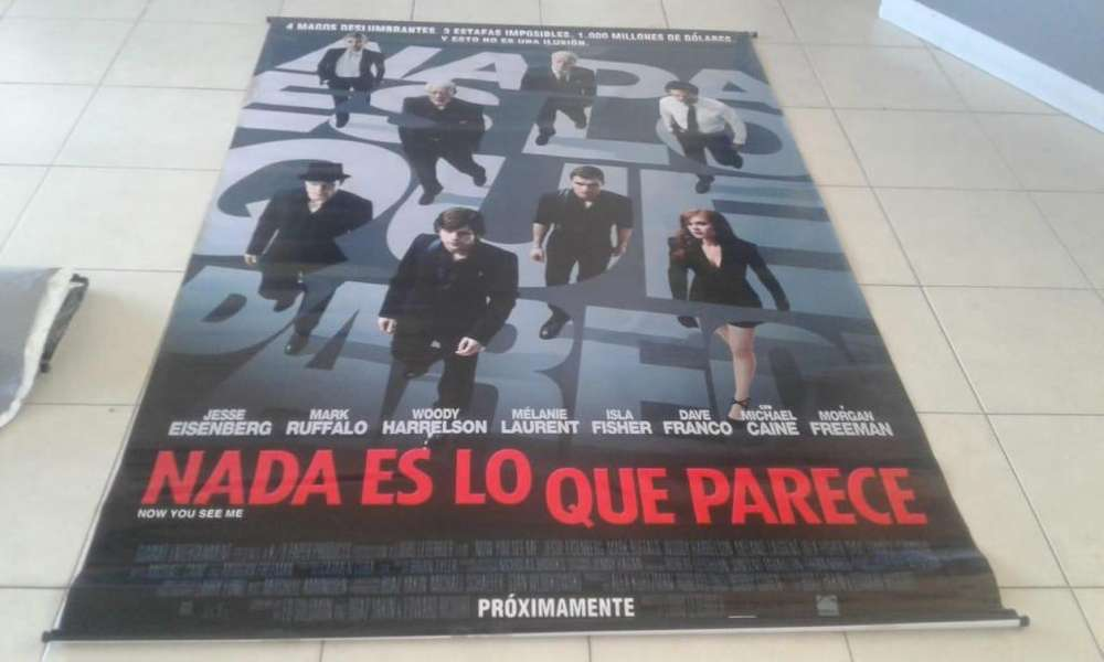 Poster Banner de Lona de Nada Es Lo Que Parece