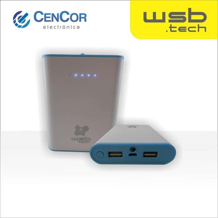 Cargador Portátil de 8000mah reales WSB.tech! CenCor Electrónica
