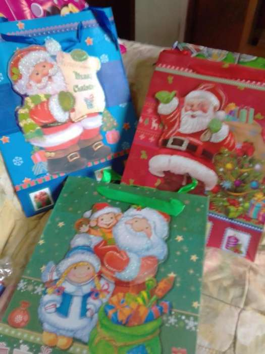vendo bolsas de navidad en 3d a solo 3 soles cada una