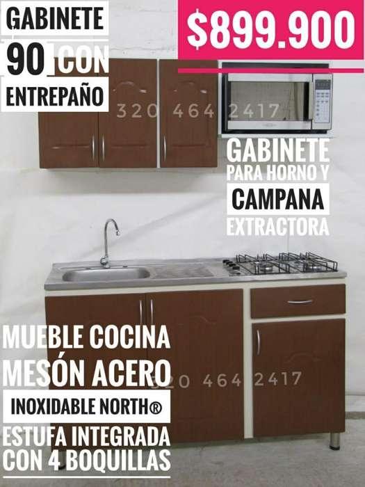Cocina Lujo Estufa Gabinetes Cocinas tipo apartaestudio APTO MESON