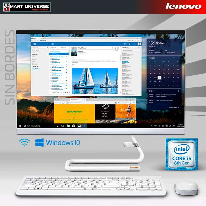 Computador All in ONE Lenovo A340 SIN BORDES Core I5 8va 22 Pulgadas 4gb Ram 1tb windows 10