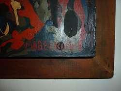ANTIGUO CUADRO PINTURA OLEO FIRMADO POR LA ARTISTA QUILMEÑA MABEL BUCICH 1970s