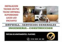 TECHO PVC   INSTALACION        LEDS DRYWALL