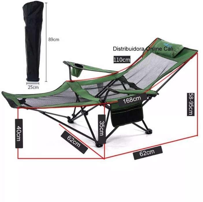 <strong>silla</strong> Plegable Camping Portátil Fácil Armado Deporte Playera