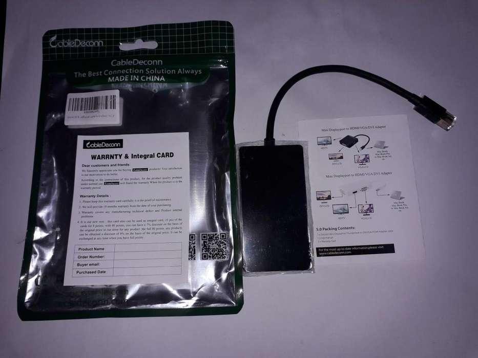 Macbook, Surface, Adaptadores De Mini Displayport A Hdmi, VGA, DVI.