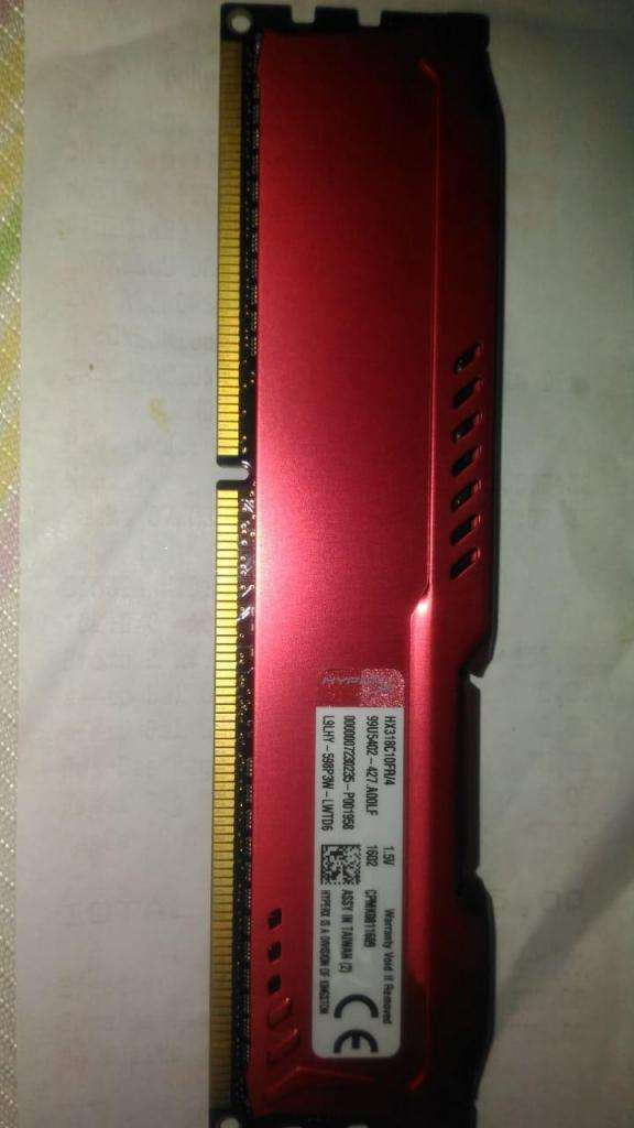 Memoria RAM Kingston HyperX FURY Black 4GB DDR3, 1600MHz