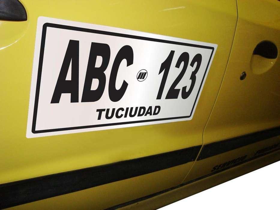 Placas Reflectivas Adhesivas Servicio Publico 40.000 Taxis CALI CALCOMANIAS