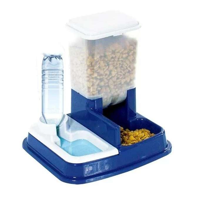 Comedero Dispenser Para Alimento Y Agua. Comida <strong>perro</strong>s y Gatos, 5 Litros. Nuevos en caja. LJ E-SHOP