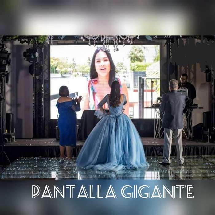 Alquiler Pantalla Gigante 15 Años Bodas stand eventos