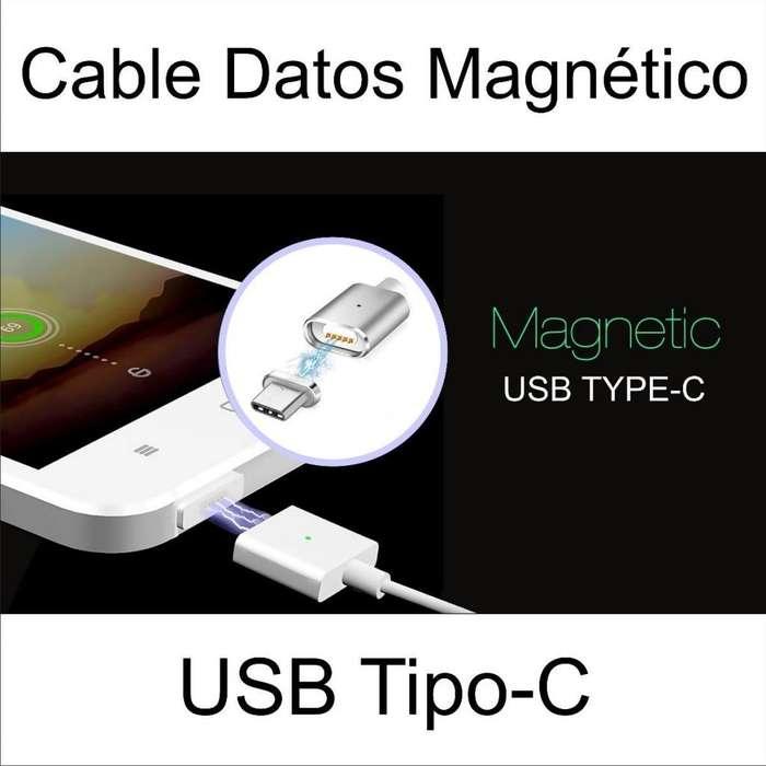 Cable Magnetico Cargador Y Datos Iman Usb Tipo C