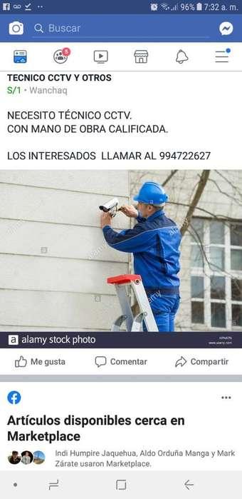 Tecnico Instalador Cctv