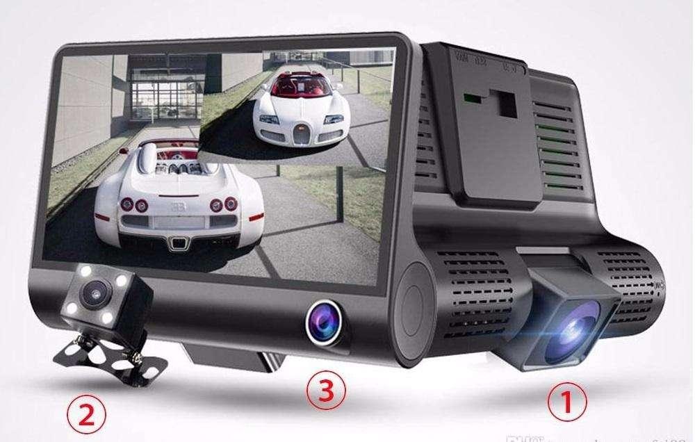 Cámara para Carro DVR 3 en 1 3 Cámaras en un solo dispositivo.