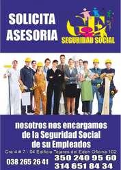 AFILIATE YA A SEGURIDAD SOCIAL EMPLEADOS, FAMILIA, EMPRESA,INDEPENDIENTES 100% CONFIABLE