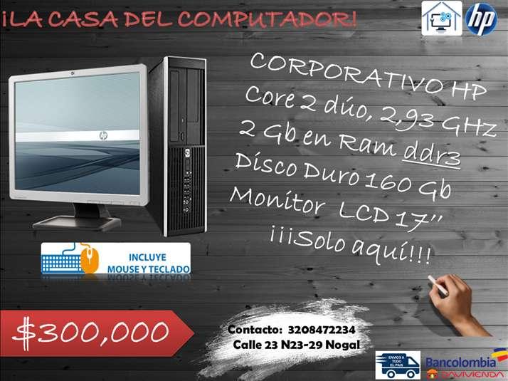 EQUIPO CORPORATIVO HP CORE 2 DUO DDR3