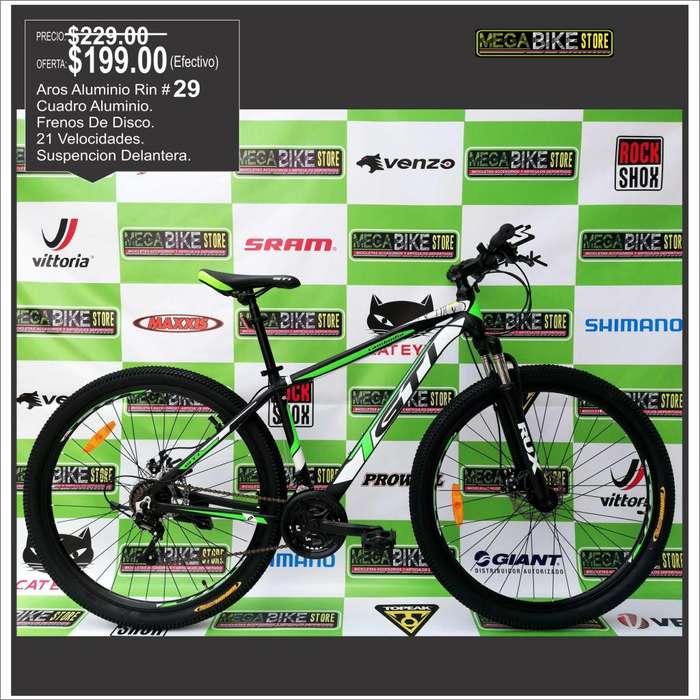 <strong>bicicleta</strong> Aro 29 Cambodia Aluminio , Rin 29 , Frenos Disco, suspension, GTI NVERDE