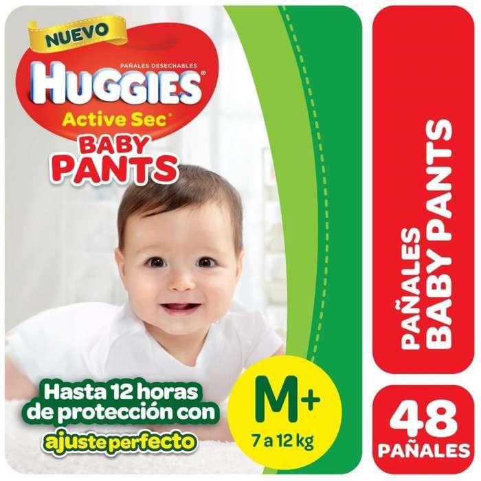 HUGGIES ACTIVE SEC PANTS Talle M-G-XG-XXG PACK x6 PAQUETES