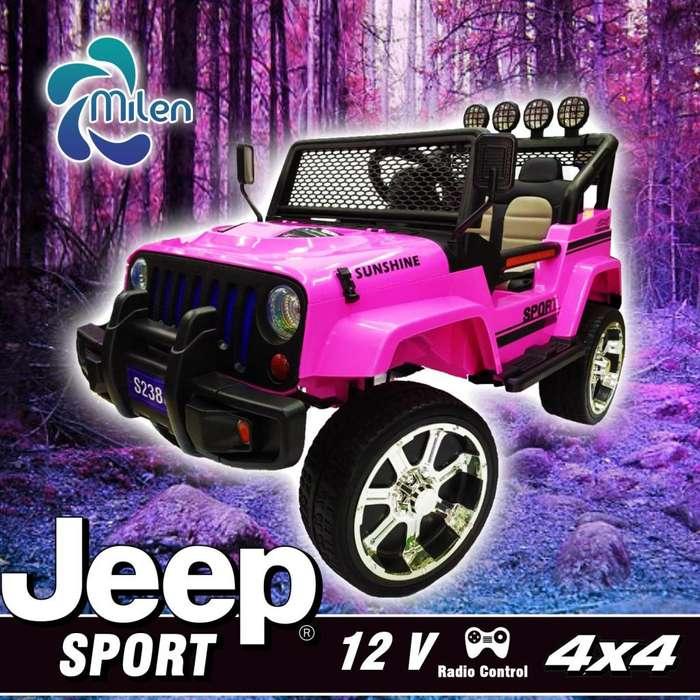 Mini carro eléctrico para niños Jeep Rosa sunshine