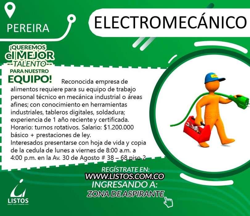 Oferta de empleo ¡Electromecanico!