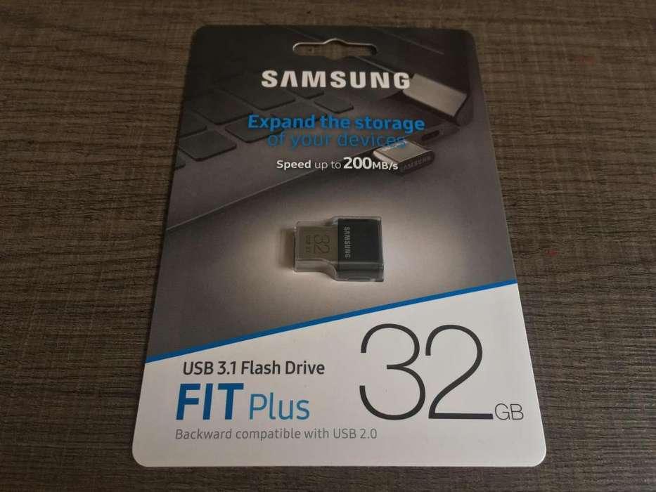 SAMSUNG USB 32GB 3.1 FIT Plus compatible con USB 3.0 2.0