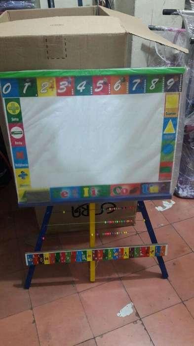 Tablero Niños Borrable Acrilico Infantil 70x105 Cm