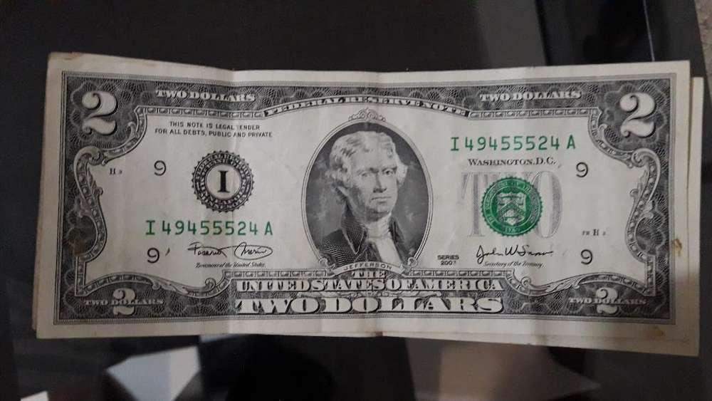 Billete de 2 Dólares