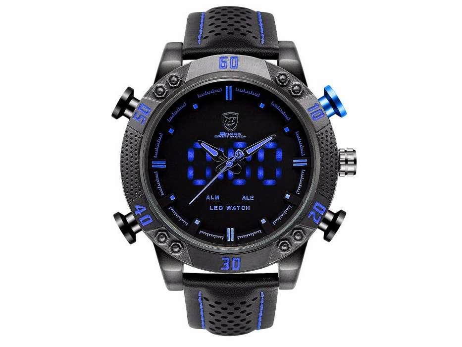 Reloj SHARK, digital y analógico, deportivo. estilo deportivo y casual nuevo