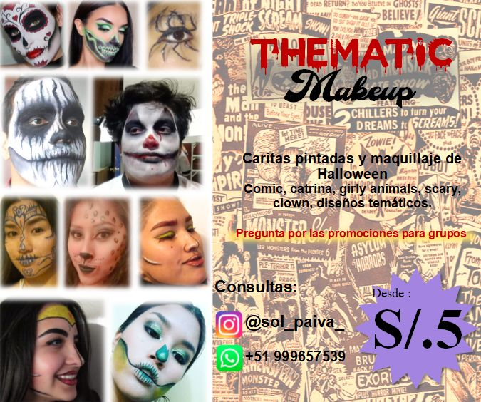 Caritas pintadas y Halloween Makeup
