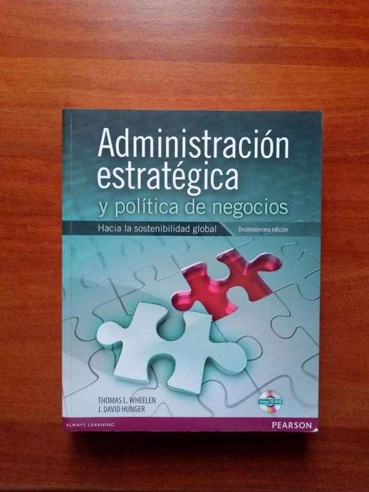 Libro Administración Estratégica y Políticas de Negocio Mas CD, Editorial Pearson, Sin Marcas Excelente Estado